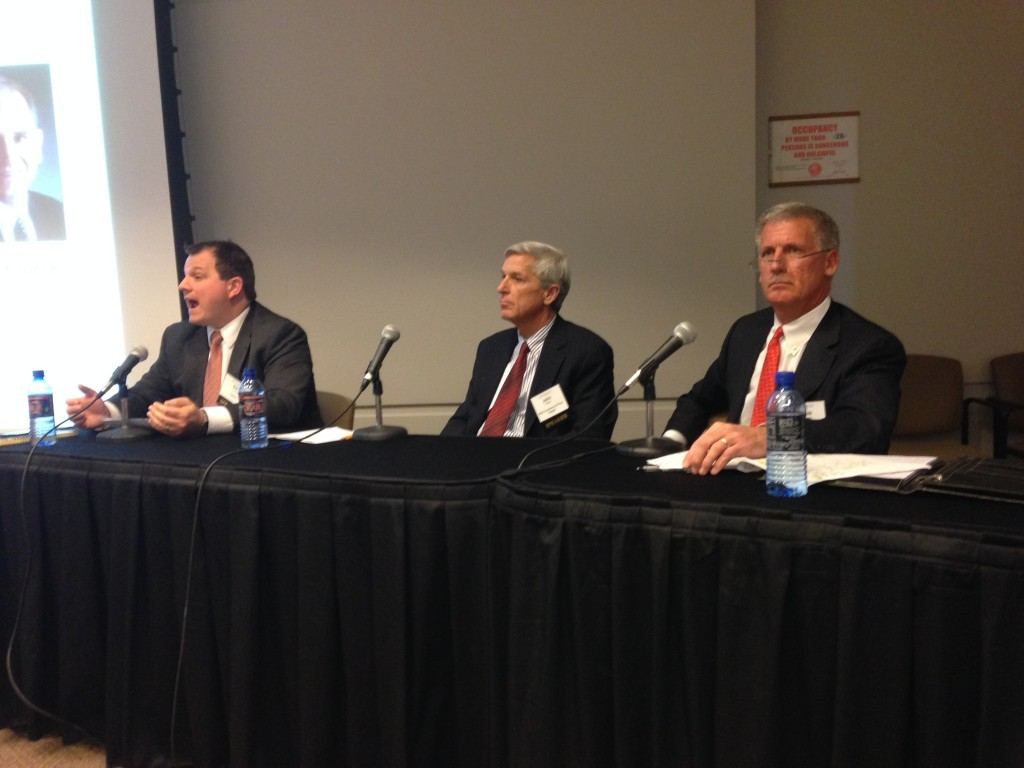 HSA PrimeCare president John Wilson (center) at CRE Forum Chicago.