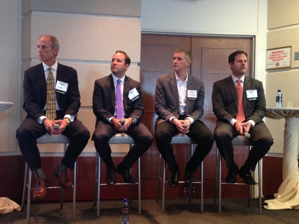 HSA Commercial's Bob Smietana (left) at CRE Forum Chicago.