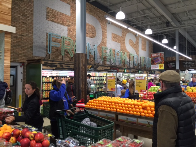 Produce section of the WFM store